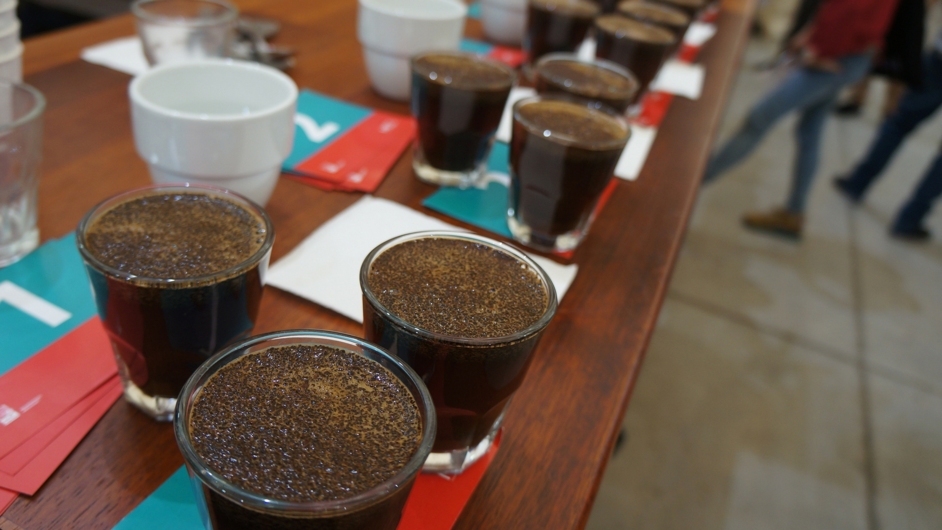 Melbourne International Coffee Expo 2017 Bean Market Cupping